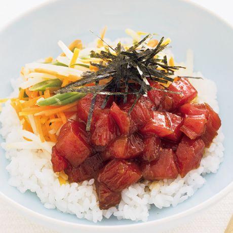 まぐろユッケビビンバ   牧野直子さんのどんぶりの料理レシピ   プロの簡単料理レシピはレタスクラブネット