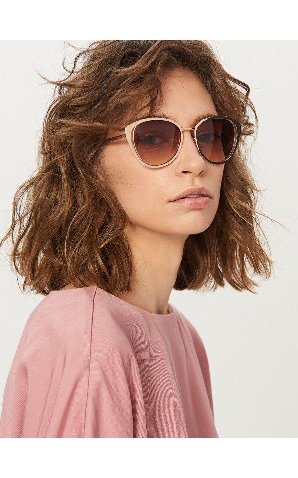 Солнцезащитные очки, Очки, золотой, RESERVED