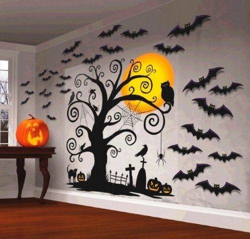 Halloween Decoration ~ 5 Foot tall Wall Decoration with 30 cutouts Mega Value Halloween Decorating Kit ~spider~black cat~RIP~crow~bats~jack-o-lantern~owl~pumpkin by Amscan, http://www.amazon.com/dp/B00EKQZC1W/ref=cm_sw_r_pi_dp_SHtosb0YXV5ZQ
