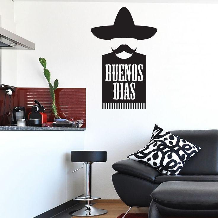 Buenos Dias Mexican Kitchen Wall Art Sticker, Wall Mural, Wall Decal, Diy  Deco