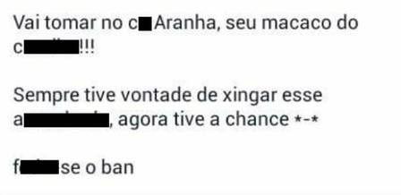 """De saída do Santos, Aranha volta a ser alvo de racismo: """"picolé de asfalto"""" (23/01/2015)"""