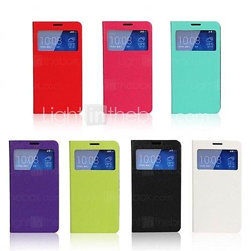 ultradunne effen kleur visuele venster pu leer full body case met standaard case voor Huawei eer 3x g750 (verschillende kleuren) - EUR €6.99
