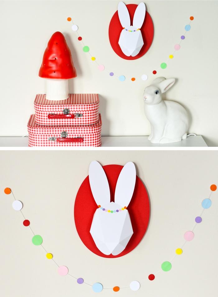 manualidad origami conejo de papel trofeo