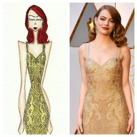 Emma Stone - Givenchy Oscars 2017