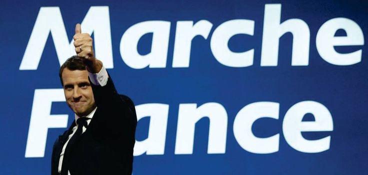 Emmanuelle Macron durante un mitin en las elecciones presidenciales francesas de mayo de 2017.