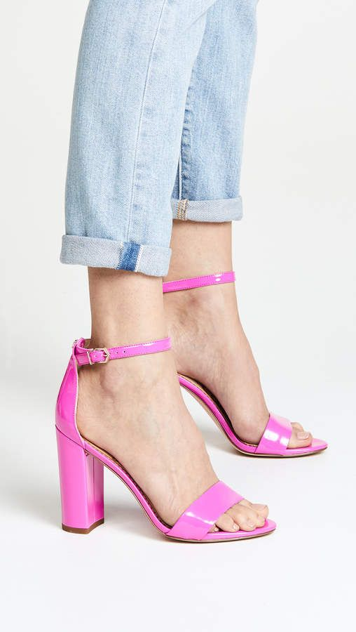 5b96be5a4 Sam Edelman Yaro Sandals Neon Fuschia High Heels - Lovely color ...