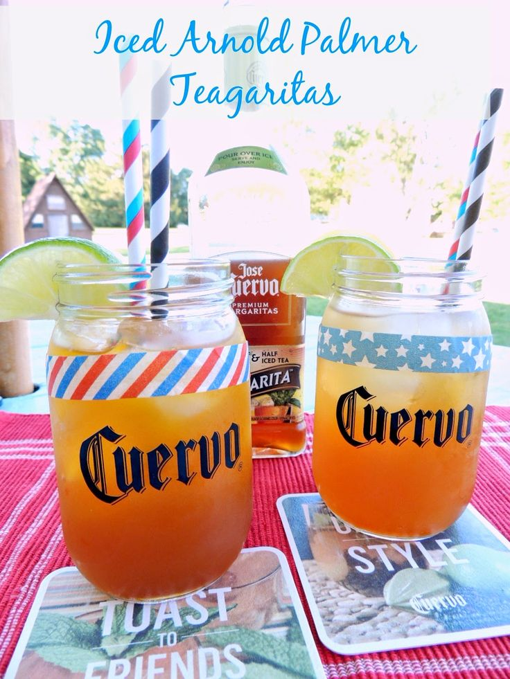 Iced Arnold Palmer Jose Cuervo Iced Teagarita™ via thefrugalfoodiemama.com #CuervoTeagarita #cocktail