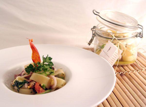 Calamarata Con Frutti Di Mare E Asparagi Ricetta Ricette Cibo