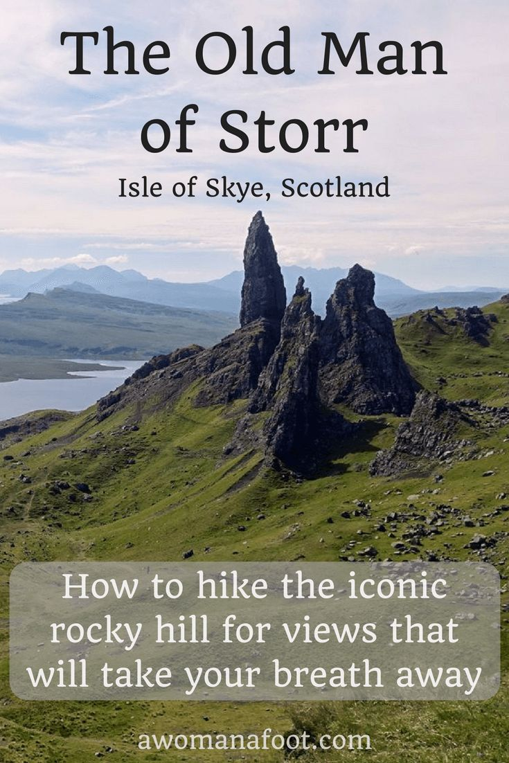 Hiking to the Old Man of Storr on the Isle of Skye - an iconic spot for magnificent views. awomanafoot.com | #Storr | #Scotland | #hiking | #Skye