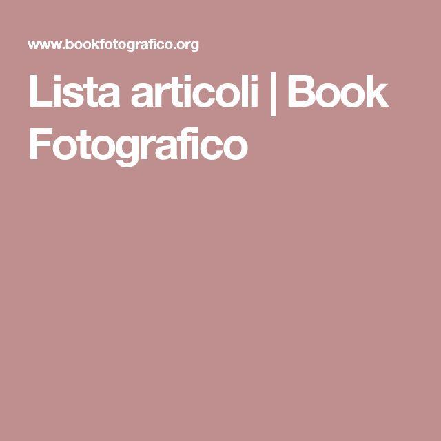 Lista articoli | Book Fotografico
