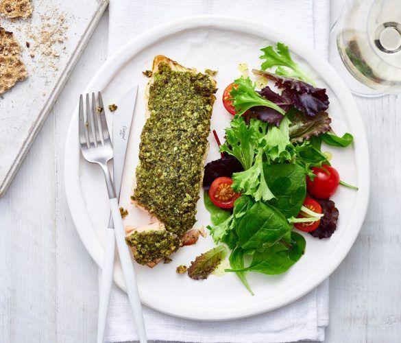 Herb & Ryvita Crusted Salmon
