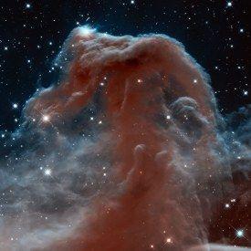 04kon - Mgławica Konski Łeb w konstelacji Oriona -zdjęcie z Teleskopu Hubble'a zrobione w podczerwieni, z okazji 23 rocznicy wystrzelenia Teleskopu