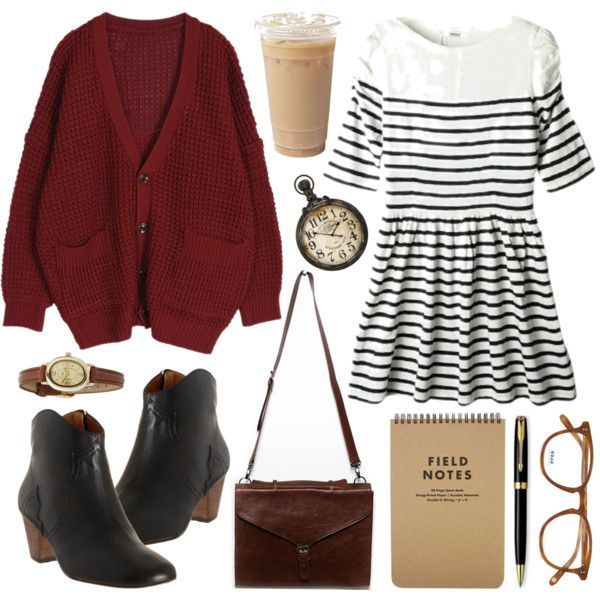 Striped dress (again) by hanaglatison on Polyvore
