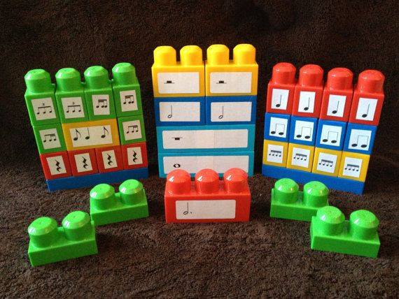 For the music teacher in your life - they can really use these! Order now so you get them before the holidays. Band, orchestra, piano, chorus, elementary - these are being used by all those teachers. BEAT BLOCKS - Rhythm building blocks that promote musical literacy