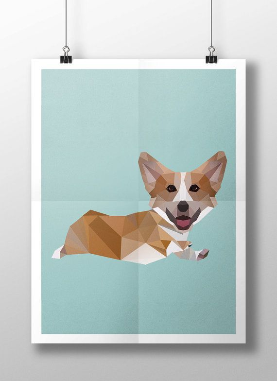 Run Corgi Run Poster by StudiousCrafts on Etsy