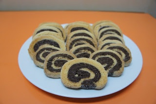 A culpa é das bolachas!: Bolachas de Chocolate em espiral