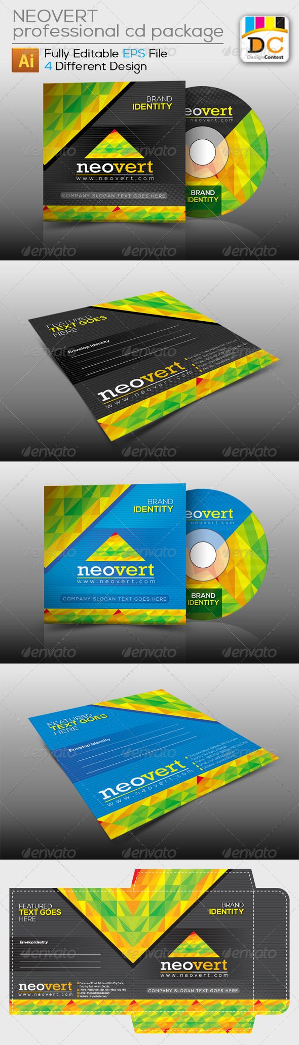 Cd box template download free vector art stock graphics amp images - Neovert_cd Sleeve Label Sticker 4139490