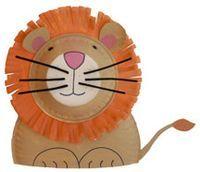 Precioso león hecho con plato de cartón. #manualidades #infantil #primaria
