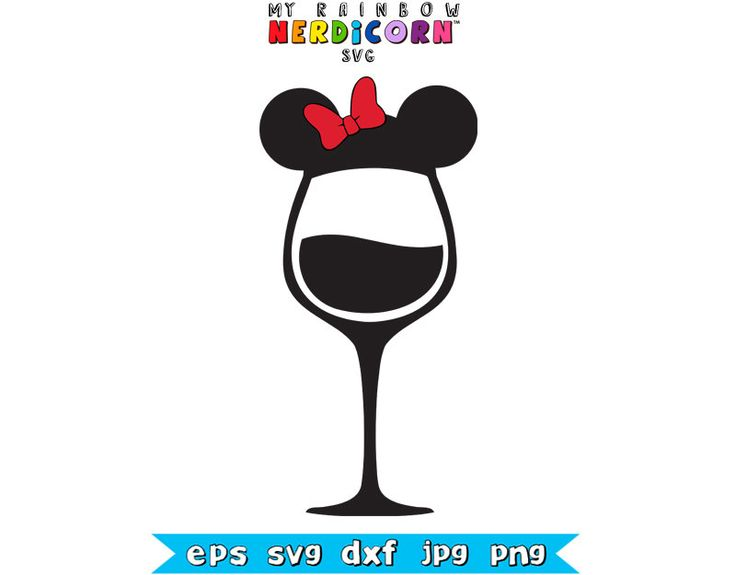 minnie mouse ears wine glass for epcot disneyworld food dxf clip art for sale dxf clip art of hands