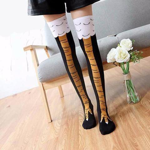 Crazy Creative Chicken Leg Knee/ Thigh High Socks *LIMITED SUPPLY*