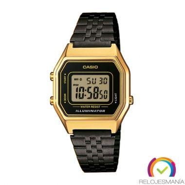 Reloj Casio LA680WEGB-1AEF Dorado y negro de mujer.
