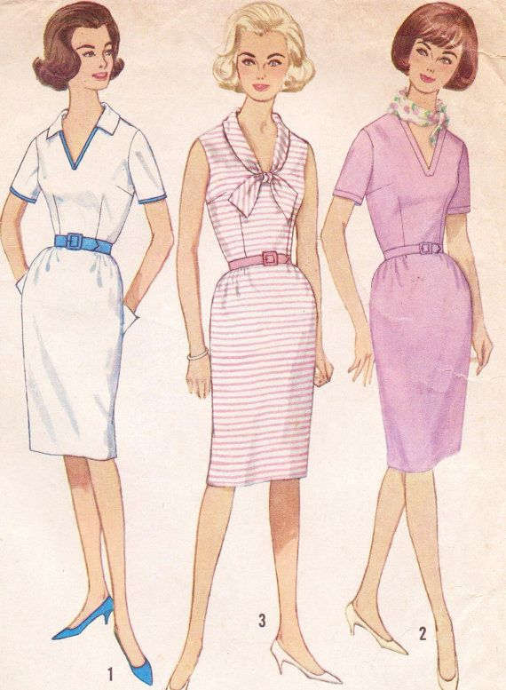 Vintage 60s Simplicity Sewing Pattern 4907 Womens by CloesCloset, $16.00