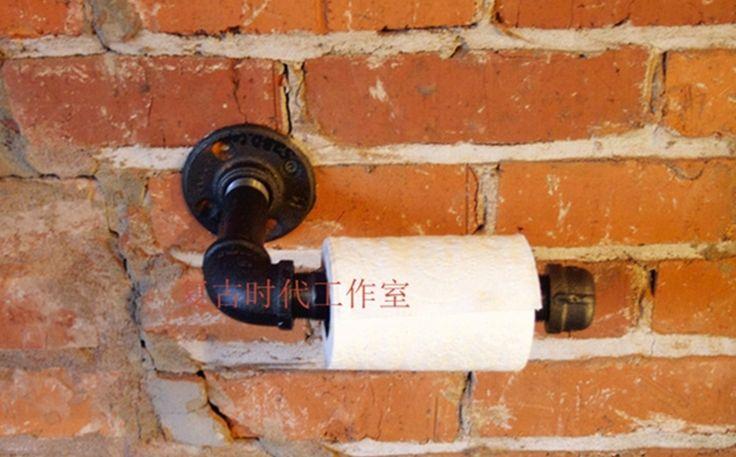 Промышленные стиль туалетная бумага связана с промышленных паровых труб ретро стиль крючки для полотенец туалет для подвешивания одежды в туалет щетка Держатели из дома и сада на Aliexpress.com | Alibaba Group