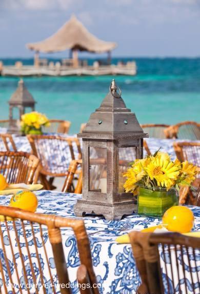 destination wedding centerpieces