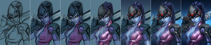 Widowmaker - fanart process by h1fey.deviantart.com on @DeviantArt