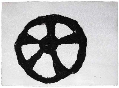 Armando, Rad, 2014, Carborundum-druk op handgeschept papier, 56 x 76 cm (oplage 20 ex.), Post + Garcia Maastricht
