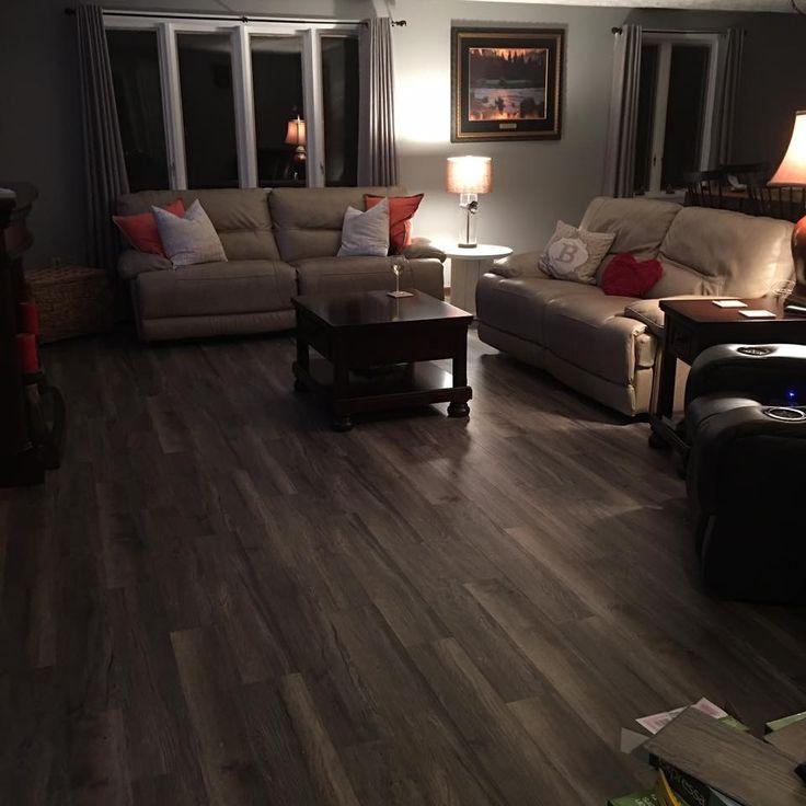 Expressa flooring  Smoky Mountain Oak from Menards  Gray