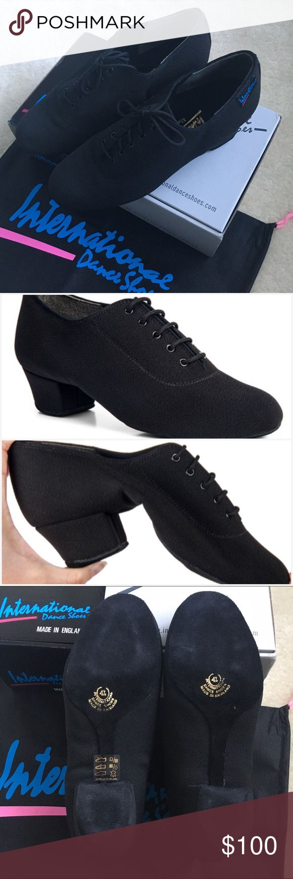 International Dance Shoes HEATHER SPLIT BLACK Hello dance friends!   I bought these really amazing shoes but in the wrong size by accident, I can't return them unfortunately.   Selling these brand new never worn dance shoes. I'm normally a 7.5 US size, and this fit perfect in length at 6.5, best fitted small for dancing.   The shoes are incredibly comfortable, they're like butter! They're similar to Jazz shoes (in my opinion better) because it has a small heel and because it's made of lycra…