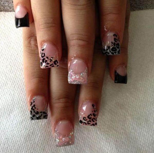 Cheetah Nail art - 50 Cheetah Nail Designs  3> !
