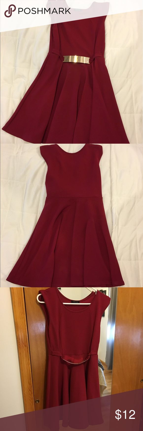 Burgundy Cocktail Dress Worn once as a wedding guest dress. Super cute to pair with some nude heels! Dresses Wedding