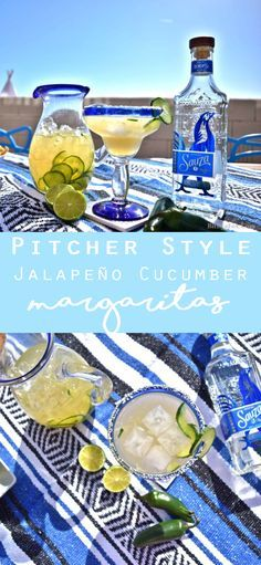 Party-Perfect Jalapeño Cucumber Margaritas! What's better than a cocktail? An entire pitcher full of cocktails!