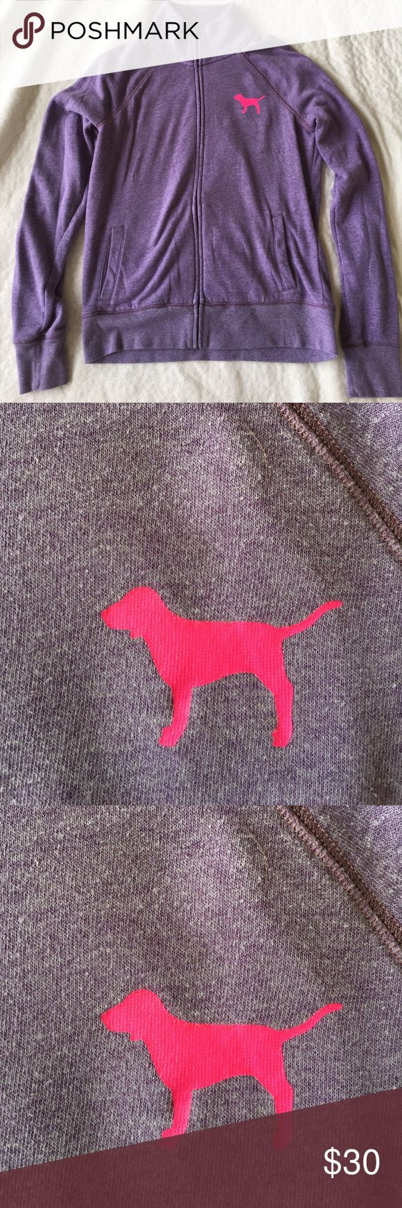 VS PINK Zip Up EUC PINK zip up! Super cute and cozy! Perfect for spring and summer! Smoke free, dog friendly home! PINK Victoria's Secret Tops Sweatshirts & Hoodies