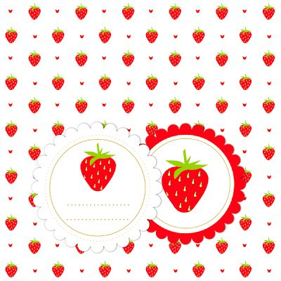FREE strawberry paper and tag