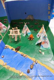 After several weeks of hard work on our Native American Teepee Village Diorama we are finally done. This was a fun project. The kid...