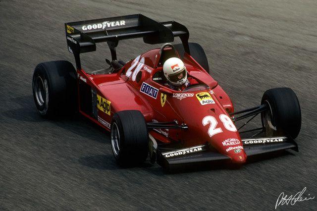 Rene Arnoux, Ferrari 126 C3, (3rd) Italian GP, Monza, 1983.