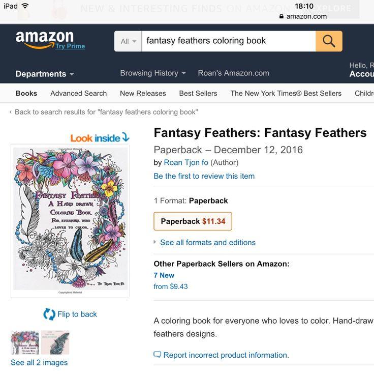 Kleurboek Fantasie Veren Te Koop Op Amazon Coloring Book Fantasy Feathers IG Rootje23