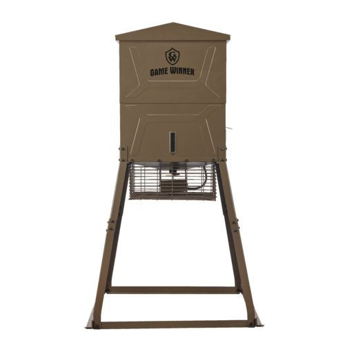 Game Winner 600 lb Cube VP Deer Feeder Brown - Feeder Parts And Accessories at Academy Sports