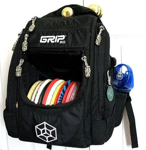 Grip Disc Golf Bag.... The Best Bag I've ever seen. Shop for the best in Golf Push Carts and More at  http://bestgolfpushcarts.net/product-category/golf-push-carts/bag-boy/