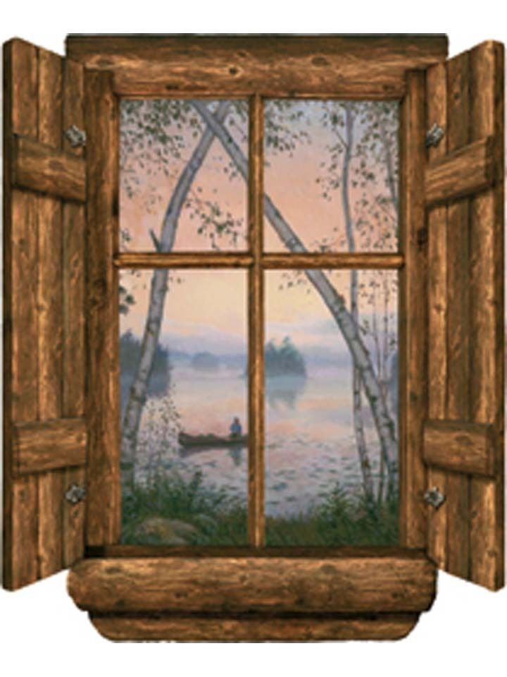 1000 images about window scenes on pinterest fireplace wall french doors and window for Log cabin window