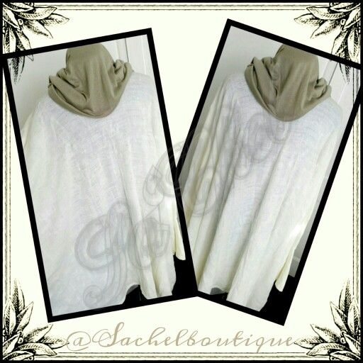 Sa'Chel white light wollen tunic perfect for spring weather.