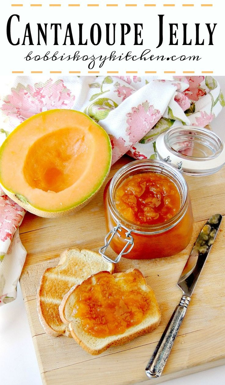 Cantaloupe Jelly - This easy to make jelly allows you to enjoy the flavor of…