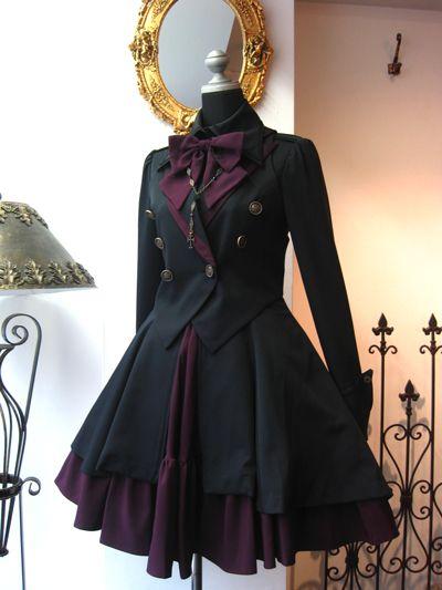 Dark uniform lolita