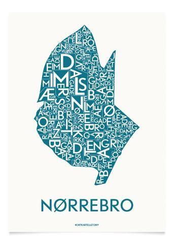 NØRREBRO - PETROLEUM - 40x55 CM