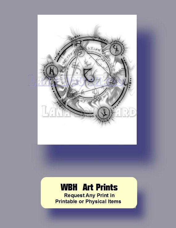 Runes watercolor print digital download by WeddingsBabiesHome