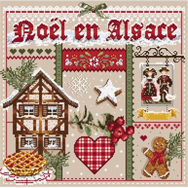 Madame La Fée Noël en Alsace fiche point de croix chez Univers Broderie
