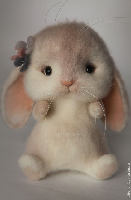NEEDLE FELTED ART ~ Animal toys, handmade. Fair Masters - handmade. Buy toys made of felt. Bunny-pobegayka .. Handmade. Toy made of wool